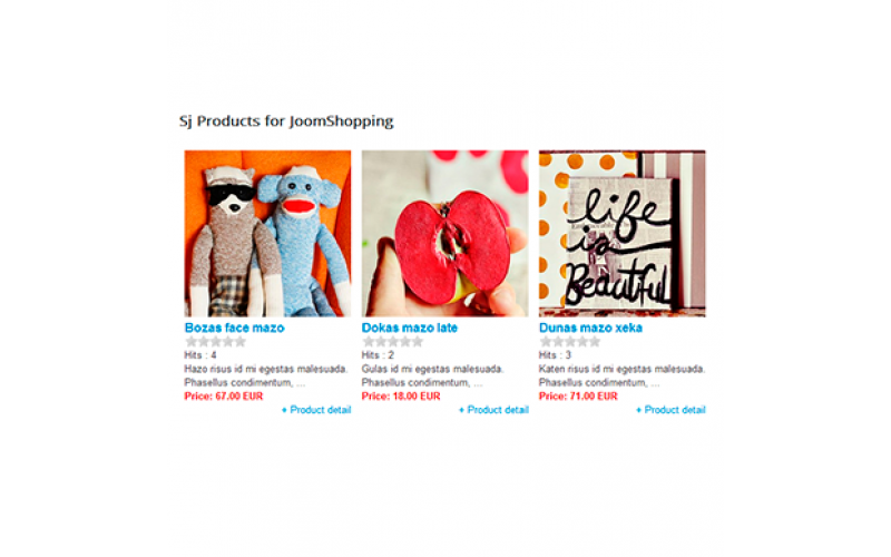 SJ Products for JoomShopping